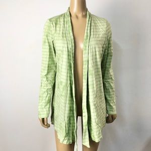 J. Jill pure Jill fit green open front cardigan
